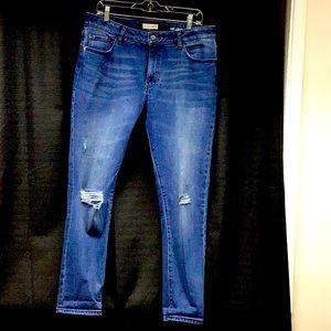 Warp & Weft Slim ankle cropped jeans